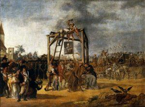 In-effigie-Hinrichtung der Mitglieder der Konföderation von Targowica am 27. April 1792 in Sankt Petersburg